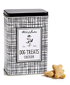 Harry Barker Dog Treats Black/White Tin