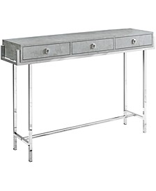 """48""""H Accent Console Table in Grey Cement Finish"""