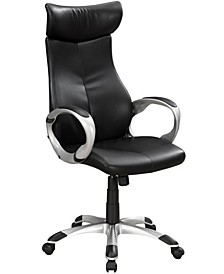 High Back Office Chair in Black Leather