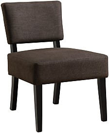 Monarch Specialties Accent Chair - Dark Brown Fabric
