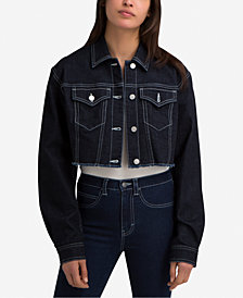 Jordache Bianca Cotton Cropped Denim Jacket
