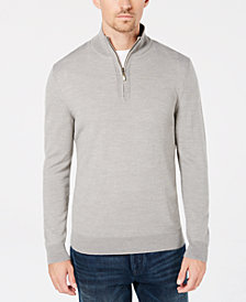 Club Room Men's Quarter-Zip Merino Performance Sweater, Created for Macy's