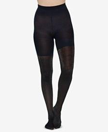 e58102698fc3a SPANX Honeycomb Fishnet Mid-thigh Shaping Tights   Reviews ...