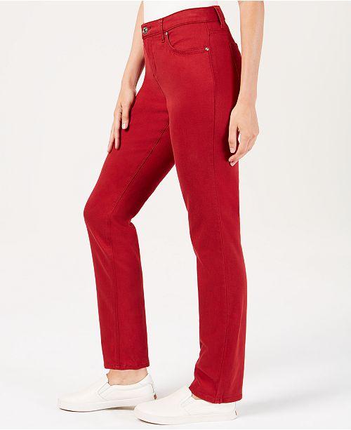 8ea6e8f4 Lee Platinum Petite Flex Motion Slim-Straight Jeans & Reviews ...