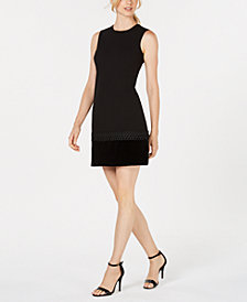 Calvin Klein Velvet-Trim Shift Dress