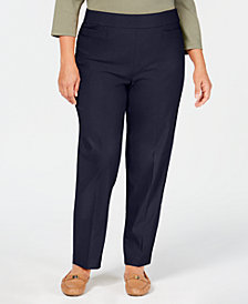 Alfred Dunner Plus Size Tummy Control Pull-On Pants