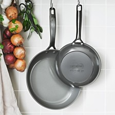 "GreenPan New York Pro 8"" & 10"" Ceramic Non-Stick Fry Pan Set, Created for Macy's"