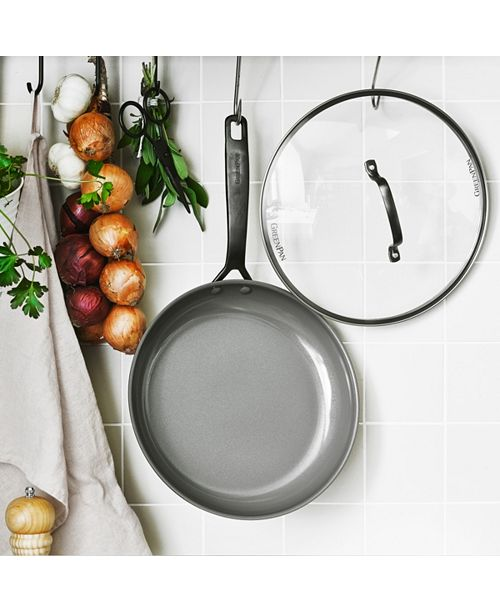 """GreenPan New York Pro 11"""" Ceramic Non-Stick  Fry Pan with lid, Created for Macy's"""