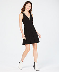 Trixxi Juniors' Lace-Back Fit & Flare Dress