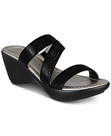 Karen Scott Paulah Wedge Sandals, Created for Macy's