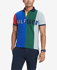 Tommy Hilfiger Men's Custom Fit Logo Colorblocked Polo, Created for Macy's