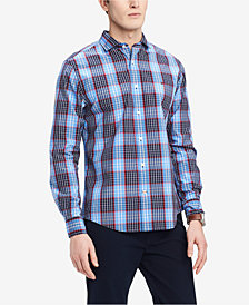 Tommy Hilfiger Men's Big & Tall Classic Fit Plaid Shirt, Created for Macy's