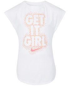 Nike Little Girls Graphic-Print Cotton T-Shirt