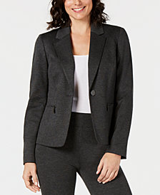 Kasper Zip-Pocket One-Button Jacket