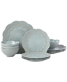 Chelse Muse Scallop 12-Pc. Dinnerware Set, Service for 4