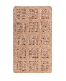 Square Honeycomb 22x60 Cotton Bath Rug