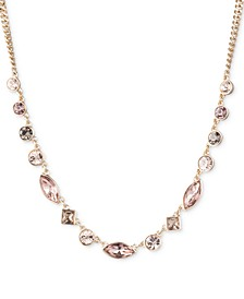 "Gold-Tone Crystal Collar Necklace, 16"" + 3"" extender, Created for Macy's"