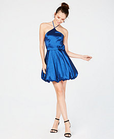 Teeze Me Juniors' Satin Bubble Dress