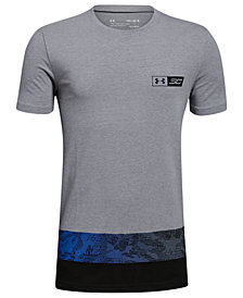 Under Armour Big Boys SC30-Print Colorblocked T-Shirt