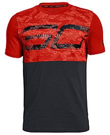 Under Armour Big Boys SC30-Print Colorblocked T-Shirt
