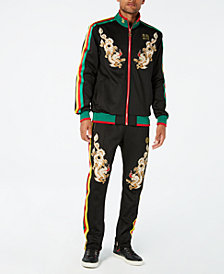 Reason Men's Dragons Embroidered Track Suit Separates