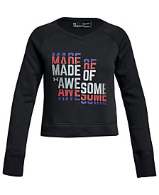 Under Armour Big Girls Rival Awesome-Print Sweatshirt