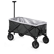 Picnic Time Grey Adventure Wagon Elite Portable Utility Wagon with Table & Liner