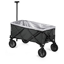Oniva™ by Picnic Time Grey Adventure Wagon Elite Portable Utility Wagon with Table & Liner