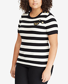 Lauren Ralph Lauren Plus Size Striped Top