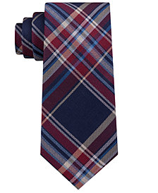 Club Room Men's Bold Plaid Silk Tie, Created for Macy's