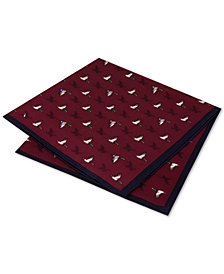 Club Room Men's Shadow Geese Silk Pocket Square, Created for Macy's