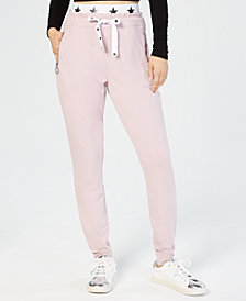 Material Girl Juniors' Banded Graphic Jogger Pants, Created for Macy's