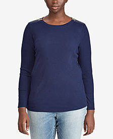 Lauren Ralph Lauren Plus Size Slim Fit Top
