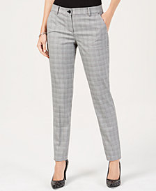 MICHAEL Michael Kors Plaid Miranda Pants, In Regular & Petites