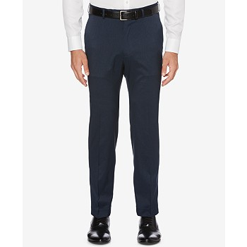 Perry Ellis Men&#39s Portfolio Classic-Fit Stretch Crosshatch Dress Pants