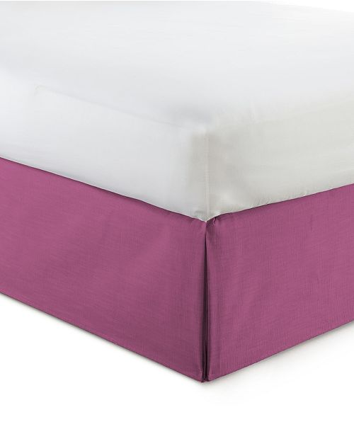 """Colcha Linens Cambric Berry Bedskirt 18""""-California King"""