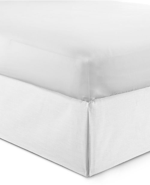 "Colcha Linens Cambric White Bedskirt 15""-Queen"