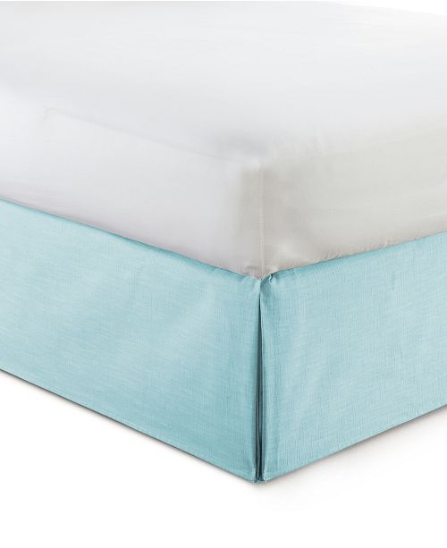 """Colcha Linens Cambric Aqua Bedskirt 15""""-King"""