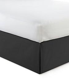 "Cambric Black Bedskirt 18""-California King"