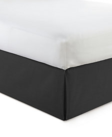 "Cambric Black Bedskirt 18"" Drop California King"