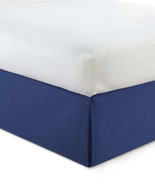 "Colcha Linens Cambric Denim Bedskirt 15""-King"