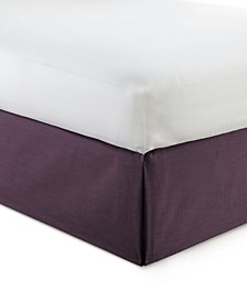"Cambric Eggplant Bedskirt 15""-Full"