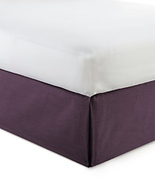 "Cambric Eggplant Bedskirt 15""-King"