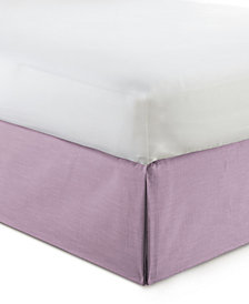"Cambric Mauve Bedskirt 15"" Drop Twin/Twin-XL"