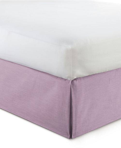 "Colcha Linens Cambric Mauve Bedskirt 15""-California King"