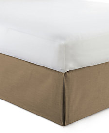 "Cambric Walnut Bedskirt 15"" Drop Twin/Twin-XL"