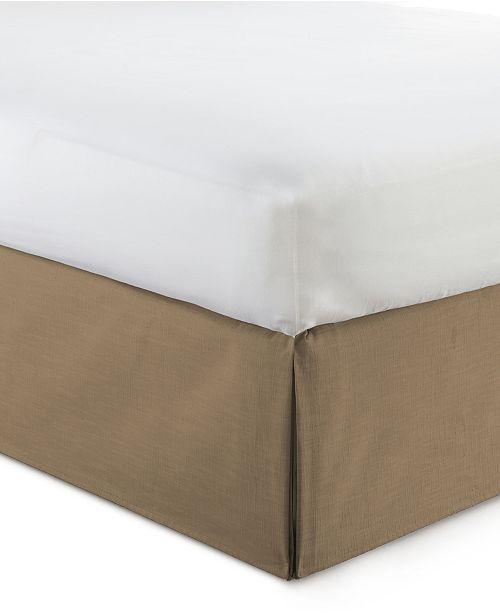 """Colcha Linens Cambric Walnut Bedskirt 15""""-Queen"""