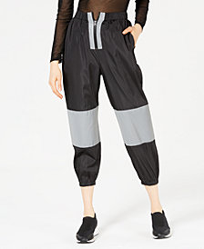 Waisted Reflective Track Pants