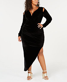 Rebdolls Plus Size Velvet Dress from The Workshop at Macy's