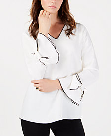 Alfani Petite Bow-Detail Top, Created for Macy's